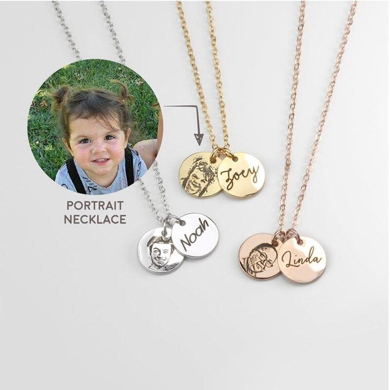 Showfay персонализированное ожерелье из нержавеющей стали на заказ ожерелье на заказ портрет ожерелье с фото ожерелье Лучшие подарки портрет ...