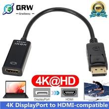 DP To HDMI-Compatible 4K 1080P Male To Female DisplayPort Cable PC TV Mini Projector Television Moni