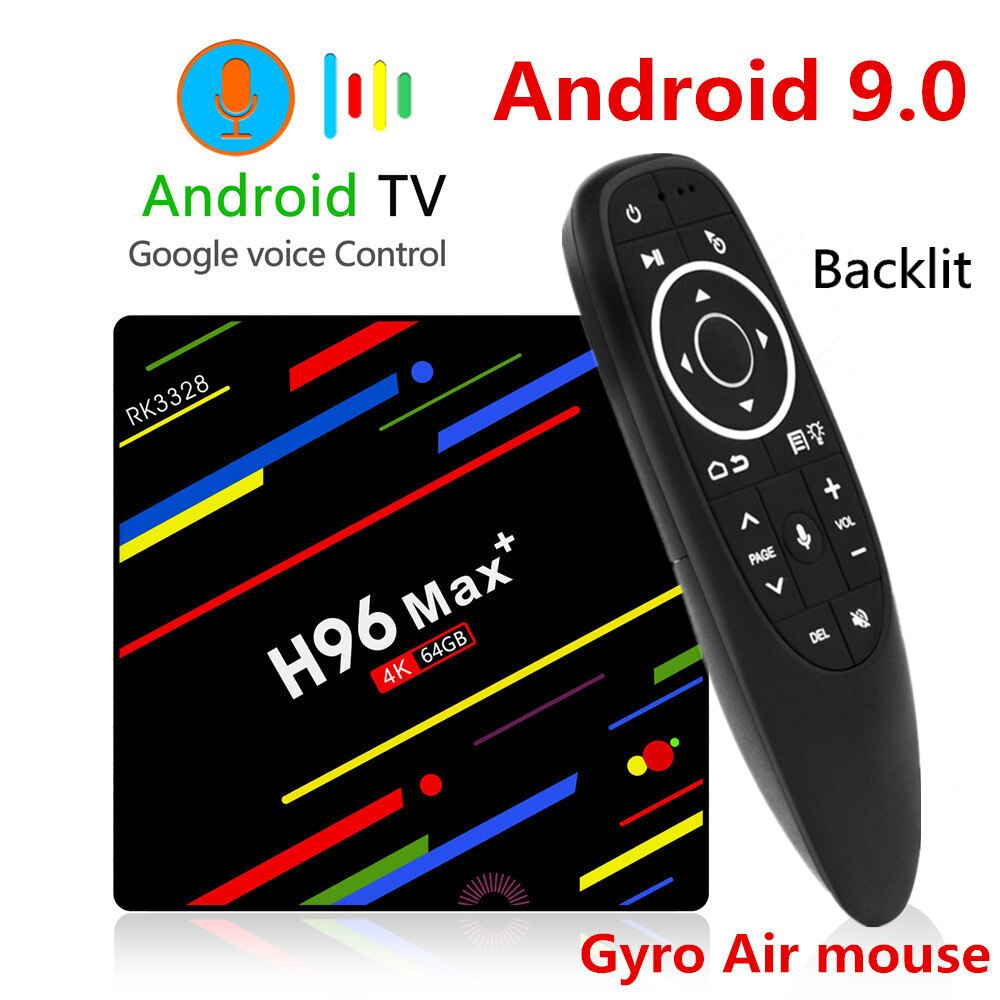 H96 MAX Plus TV caja Android 9,0 4GB de RAM 32GB 64GB ROM RK3328 Set Top BOX 5G Wifi 4K Reproductor Multimedia Inteligente pro PK X96 RK3318 HK1