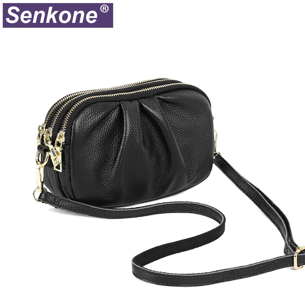 100% Genuine Leather Women Bags Famous Brand Designe Cloud Bags Girls Fashion Mini Bag Women Handbag Pleated Shouder Bag