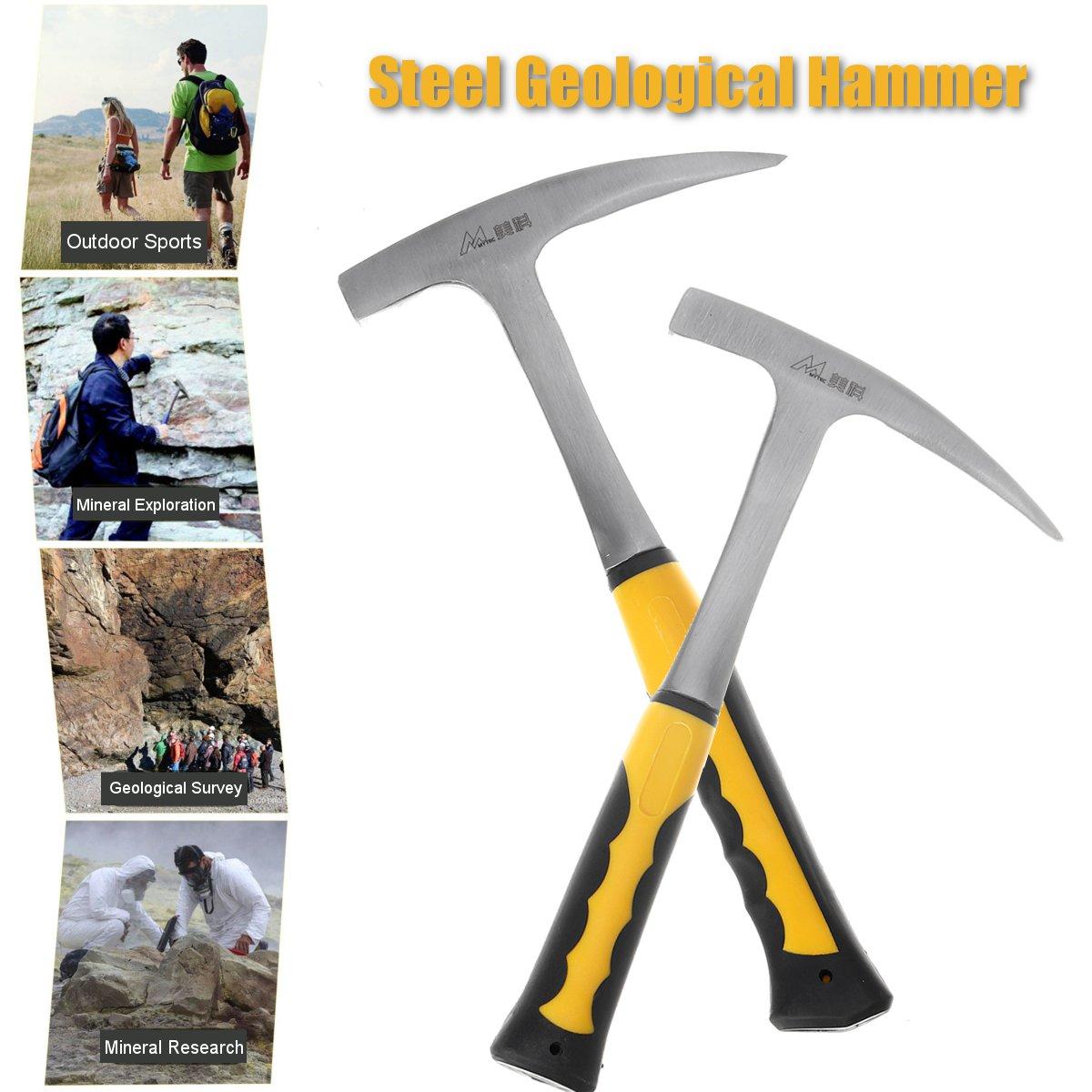 Acero al carbono martillo geológico Shock Rock reducción de Geología de Educación al Aire Libre herramienta de exploración de minerales martillo herramientas de mano