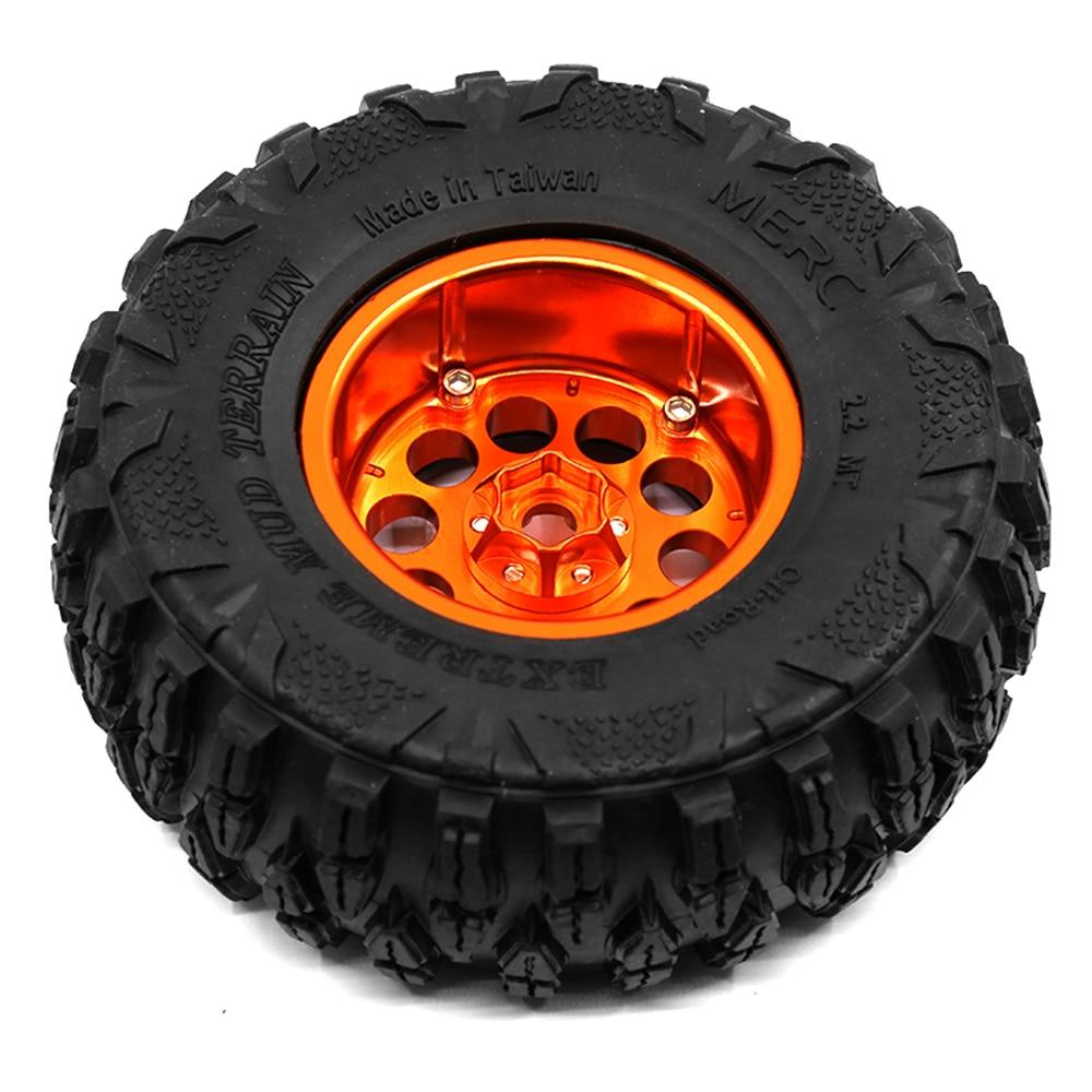 4Pcs Aluminum Alloy 2.2 Inch Wheels Rims For 1/10 SCX10 90046 AXI03007 SCX10 II Traxxas TRX4 D90 RC Crawler Axial enlarge
