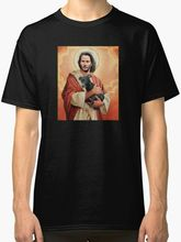 New Keanu Reeves Holding a Puppy T-shirt S-3XL Short Sleeve T-Shirt Tops