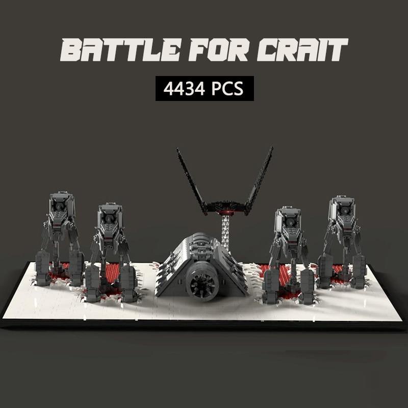 الخيال العلمي روبوت معركة الطوب MOC معركة الفضاء ل Crait اللبنات نموذج اللعب الهدايا