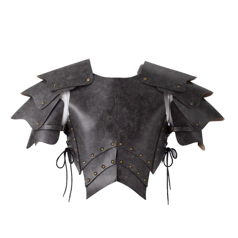 Viking LARP Adult Costume Armour PU Leather Warrior Medieval Men Knight Armor