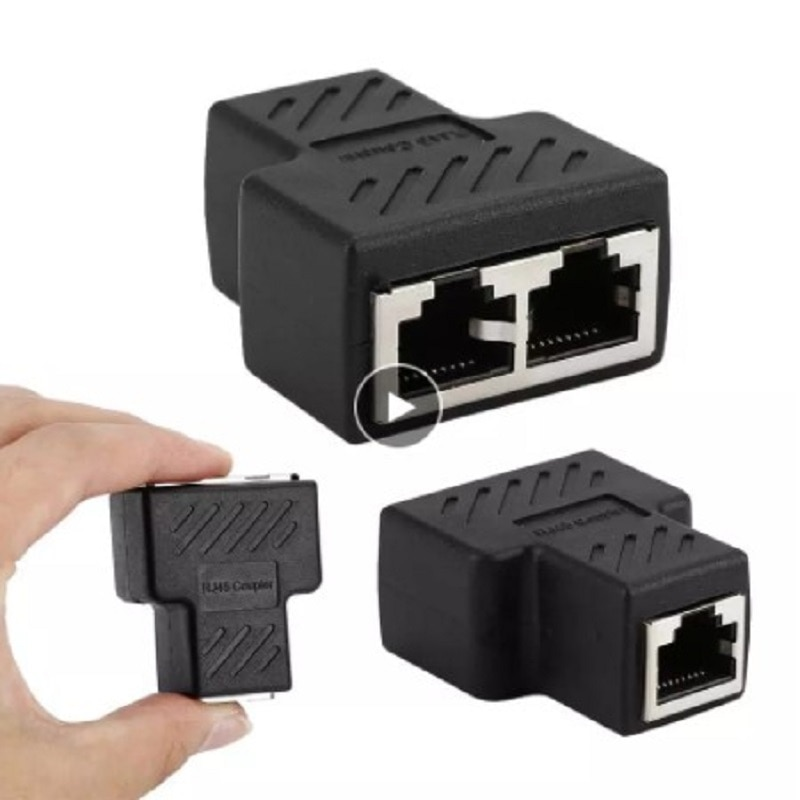Сетевой соединитель 1-2 способа, сетевой кабель-распределитель, Ethernet сетевой Разветвитель RJ45, удлинитель, переходник C для ноутбука