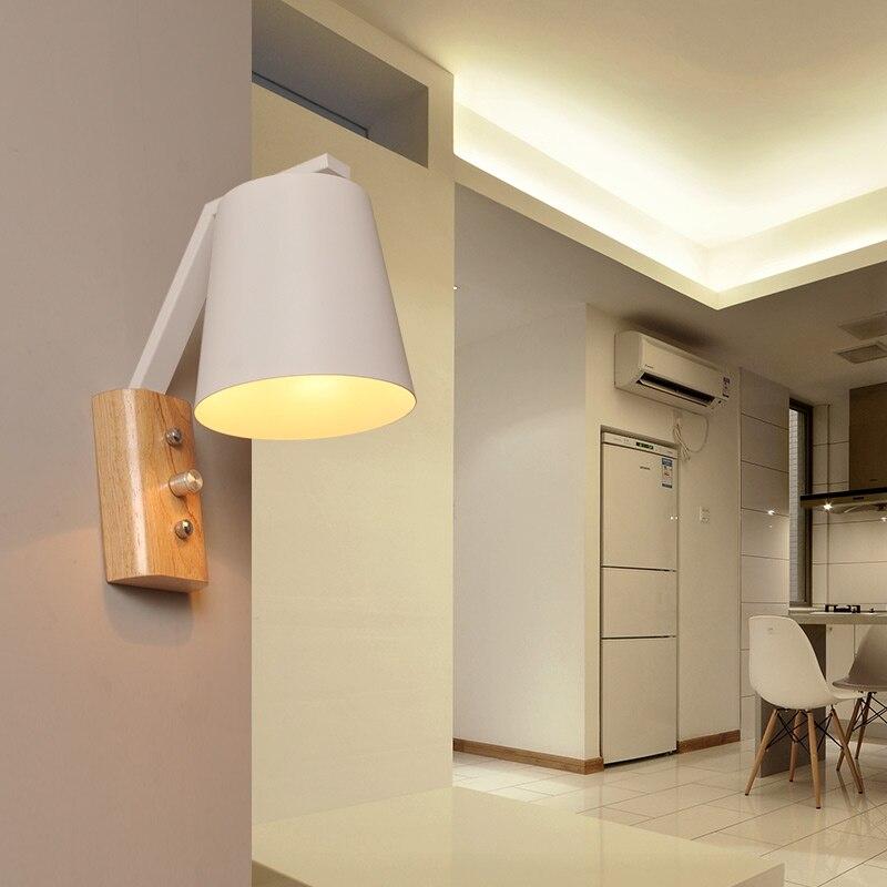 Lámpara de pared de madera, lámpara Led de pared, lámpara de mesilla...