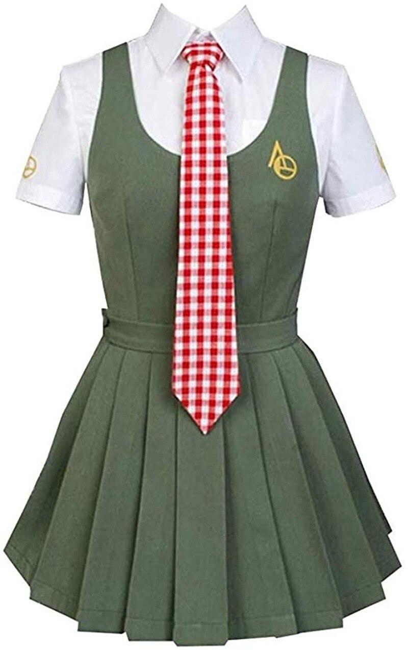 Anime super danganronpa cosplay traje mahiru koizumi cosplay uniforme conjunto completo