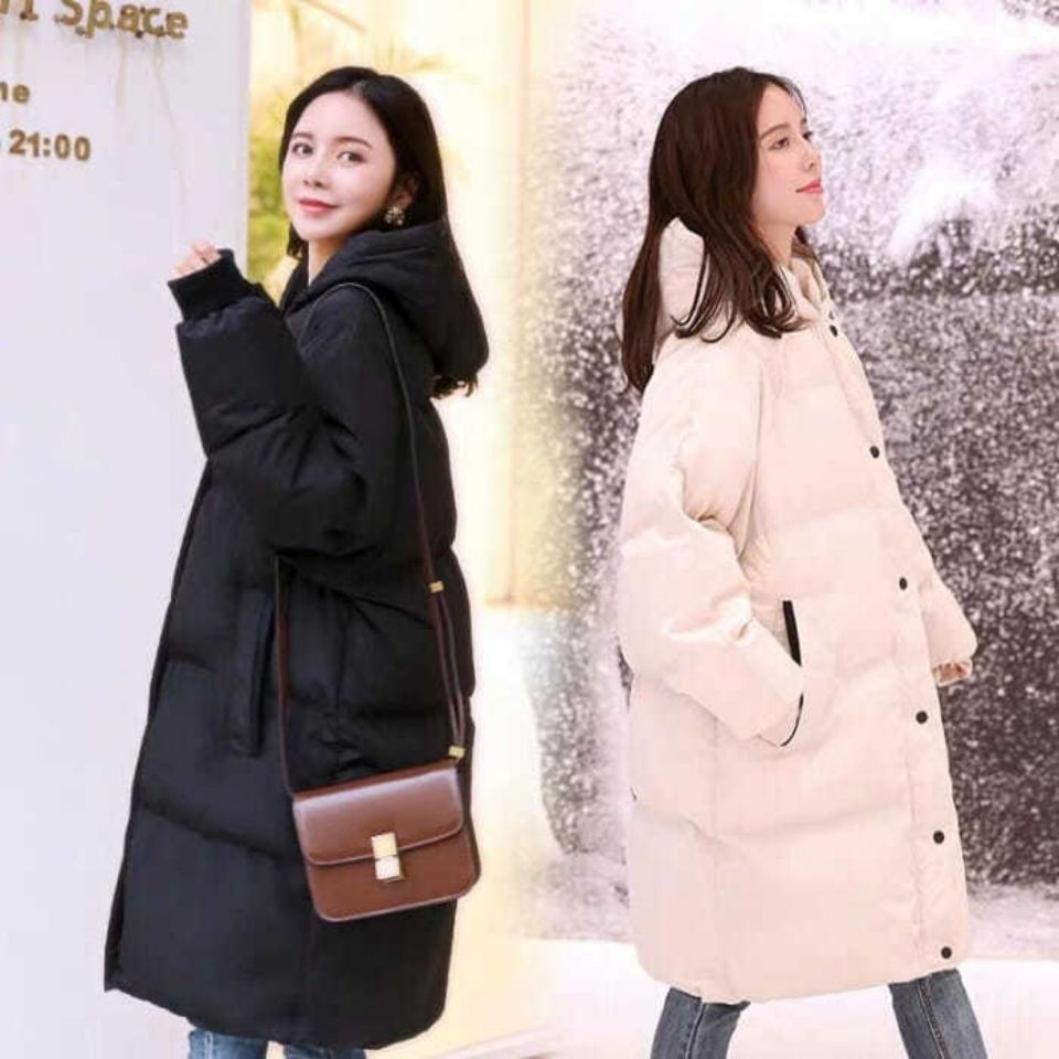 Winter Maternity Clothing Women's Hooded Long Down Parka Pregnancy Outerwear White Black Thick Warm Coat Clothes enlarge