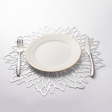 Set de Table en PVC or creux   Set de Table Unique en forme de fleurs, en forme dhibiscus pour la cuisine, Table à manger de décoration de la maison
