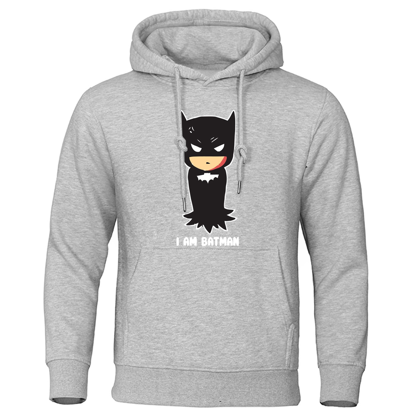 I AM Batman Print Hoodie Bruce Wayne Hoodies Men The Dark Knight Superhero Hooded Sweatshirt Autumn Bat Man Harajuku Sportswear