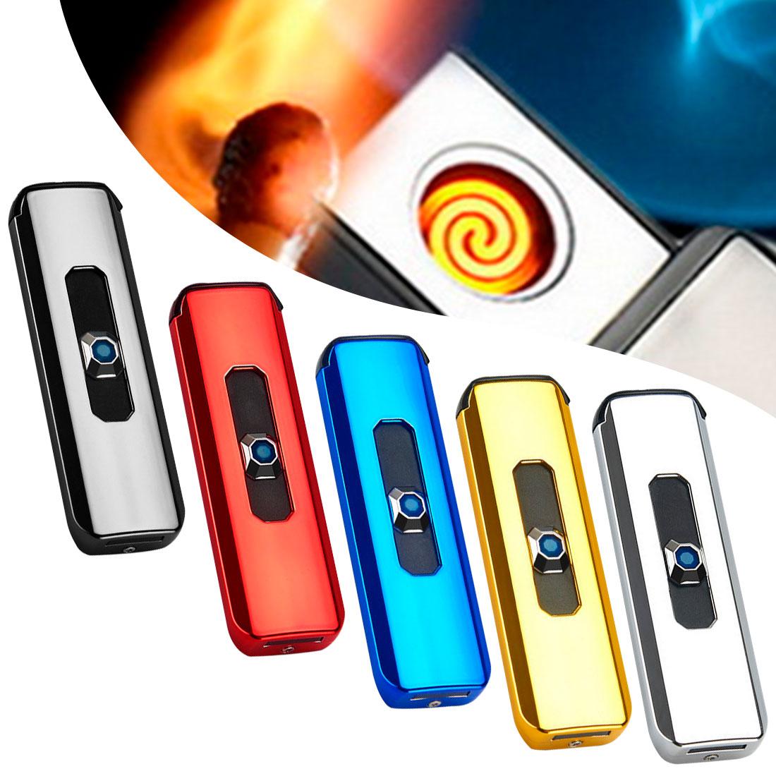 AliExpress - Electric Lighter Gift for Men Lighters Bulk Gadgets 2021 Mini Lighter Usb Lighter Touch Screen Rechargeable Metal Lighter