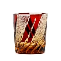 janpanese style handmade glasscraft engraving wine glassware juice beer cup whisky glass with wooden gift box 210616 40