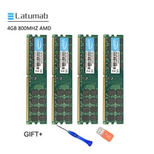 Latumab 4GB 8GB DDR2 800mhz PC2 6400 AMD Cpu Chipset Motherboard Speicher Ram PC Speicher RAM Modul 1 stücke/2 stücke/4 stücke Hohe Qualität