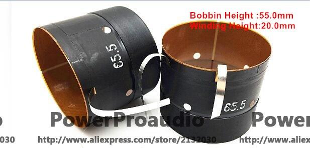 2 pces alta qualidade 65.5mm woofer/alto-falante/alto-falante bobina de voz
