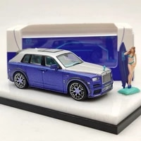 time model 164 for rlsrce suv cullinan mansory blue wfigure diecast models car auto toys limited collection gift