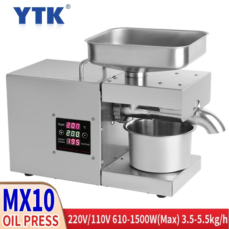 Prensa hidráulica Digital LED de acero inoxidable de 220V/110V, Control de temperatura, máquina de bombeo de cacahuetes, prensa de aceite de sésamo