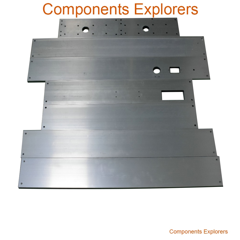 جوفاء Al لمحات 20*100 مللي متر ل RS-CNC32