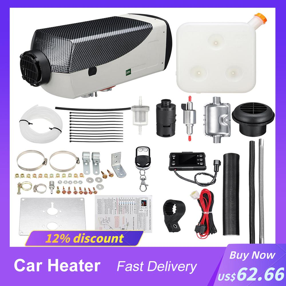 Car Heater 12V 5000W Diesel Air Heater Parking Kit Warming Equipment With Control LCD Switch Display Motorhome Trailer Boats Hot