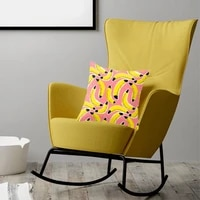 creative yellow cartoon printing is a peach skin pillow which relies on four seasons general high quality soft pillow cover