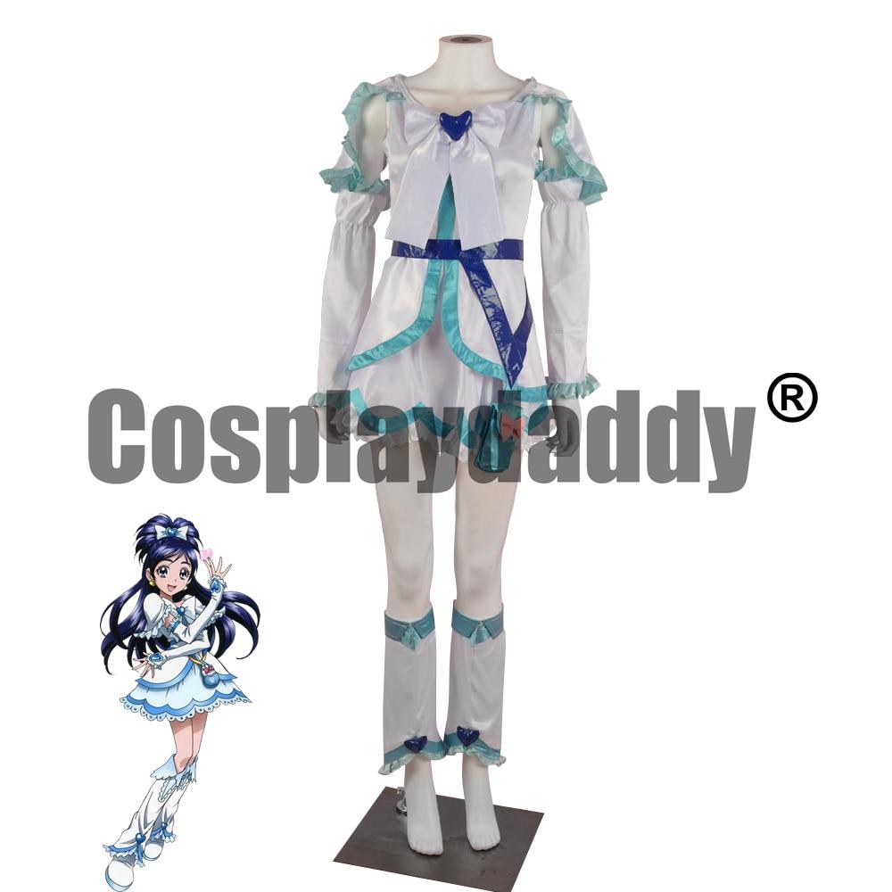 Futari wa Pretty Cure Max Heart Yukishiro Honoka эмиссари светильник для лечения белого человека. Наряд Платье Аниме Косплей Костюм F006