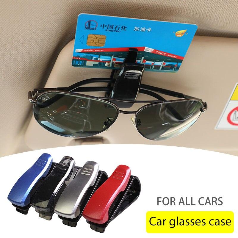 Универсальный автомобильный солнцезащитный козырек, коробка для очков, солнцезащитные очки, держатель для карт, ручка с креплением чехол, а...