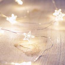 3M LED String Light Battery Box Holiday Garden Wreath Fairy Tale Christmas Wedding Novelty Rabbit Snowflake Star Lights String