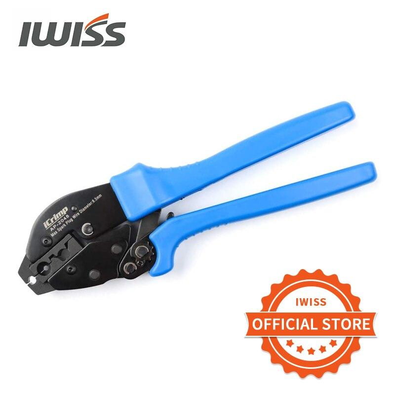 Alicates de engaste IWISS AP-2048, crimpadora de conector de clavija para cables de encendido y bujías, diámetro máximo de 8,5mm Crimpadora Terminales Alicates