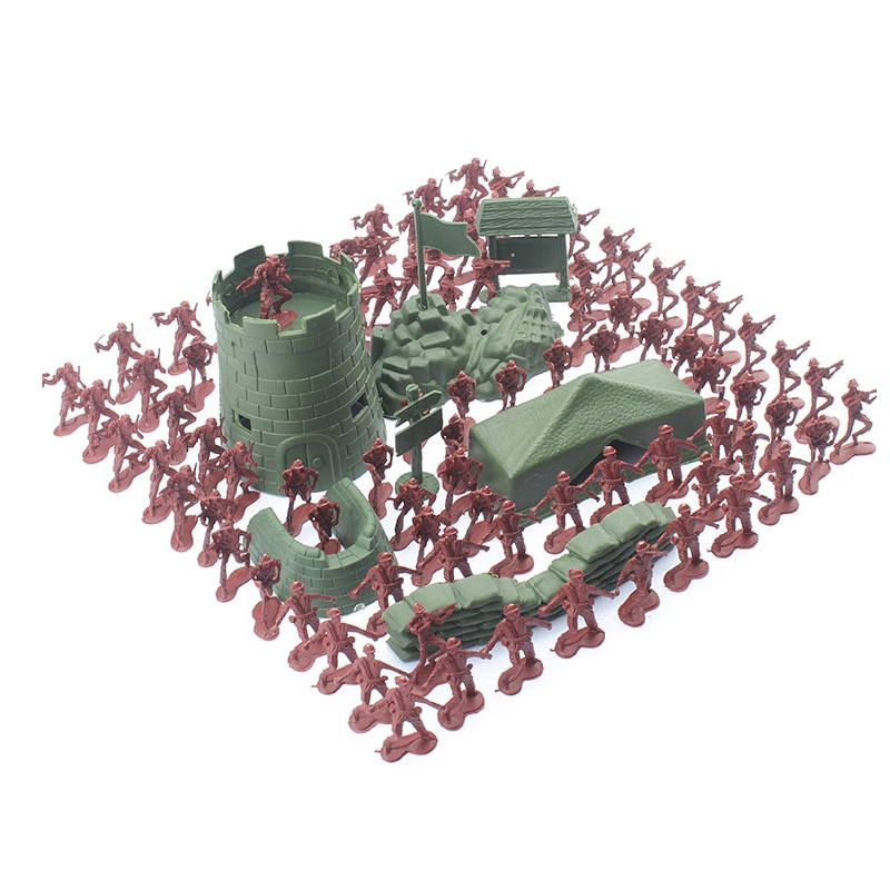 100pcs 4cm high Soldier Model Military sandbox game Plastic Toy Soldier Army Men Figures For Children's toy dolls gift 100pcs high soldier model military sandbox game plastic toy soldier army men figures for children s toy dolls gift