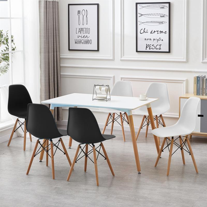 6 шт./компл. обеденные стулья с ножками из Букового дерева, стулья для отдыха в современном стиле для кухни, гостиной, комфортные стулья, белы... обеденные группы из стекла для кухни
