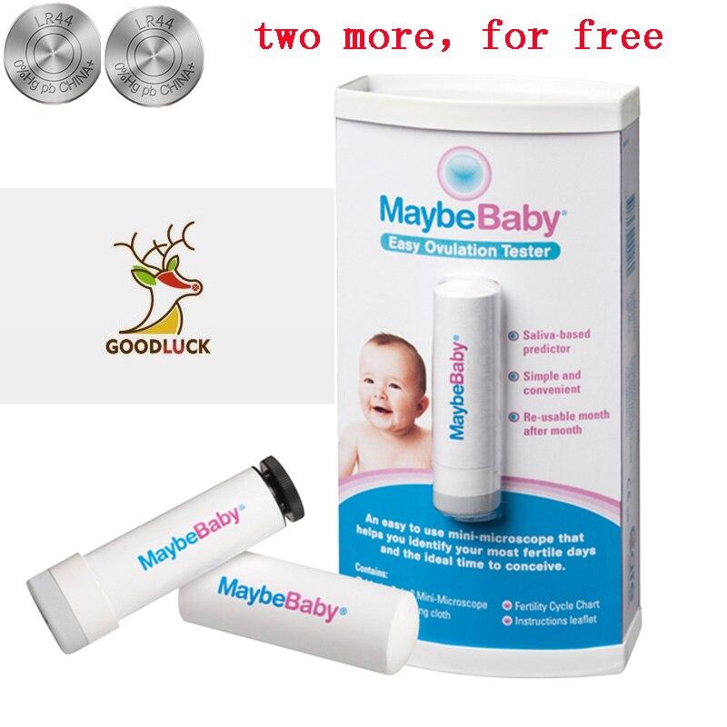 MaybeBaby, pruebas de fertilidad fáciles de volver a usar, 10000 veces, probador de ovulación, minimicroscopio, 99.9% de precisión para el momento Ideal para concebir