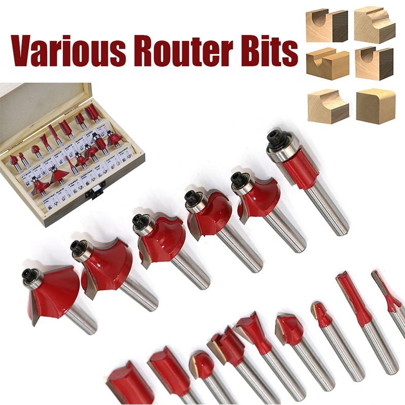 15-35pcs/set Woodworking Milling Cutters 1/2