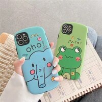 new cartoon case for iphone 3d cute pattern phone shell for iphone 12 11 pro max 7 8 plus se 2020 xr x xs max cover soft back