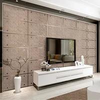modern fashion 3d imitation marble lattice suede non woven wallpaper decor restaurant living room tv background wallpaper thick