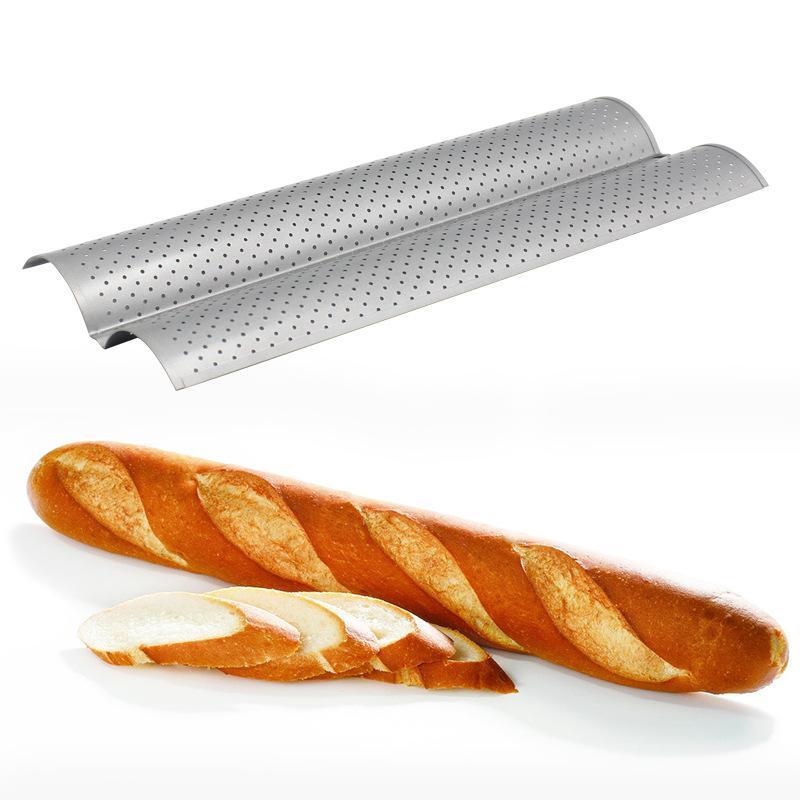 2/3/4 ranura francés para hornear pan molde para pan de la onda para hornear bandeja práctica pastel pan molde sartenes olas pan para hornear herramientas