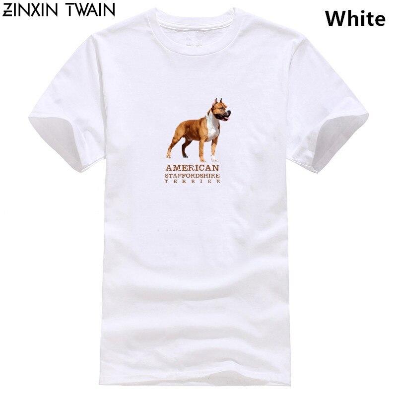 Camiseta de algodón con diseño cómico de Amstaff de American Staffordshire Terrier, camiseta gráfica de talla grande 3xl para primavera y otoño, 100%