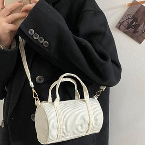 Retro Small Bags Women's Bag 2021 Spring New Fashion Student Shoulder Messenger Bag Internet Celebrity Hand-Carrying Boston Bag