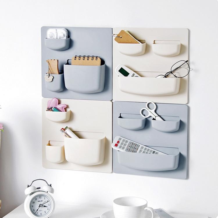 Organizador de Accesorios de cocina, estante lateral de refrigerador Tipo Adhesivo, almacenamiento...