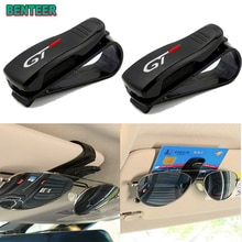 1pc Car Sun Visor Sunglasses Holder For Peugeot Rifter 106 107 108 206 208 308 408 508 2008 3008 400