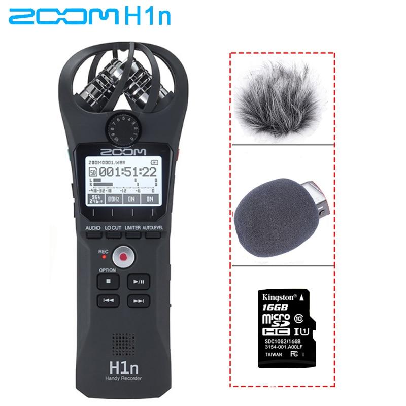 زووم H1N مفيد المحمولة مسجل رقمي مع بويا BY-M1 ميكروفون Lavalier لكاميرا الهاتف الذكي