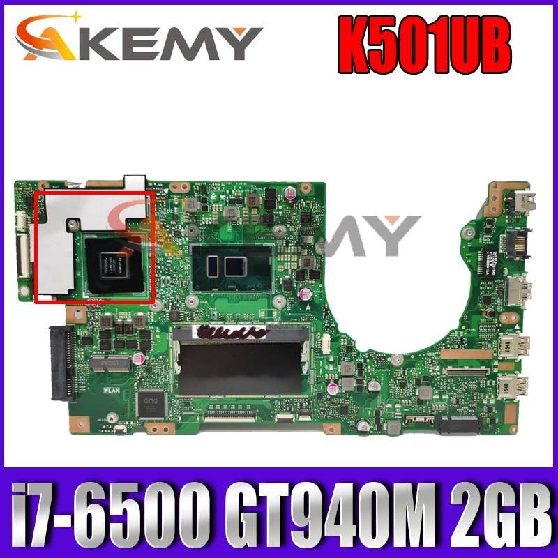 K501UB i7-6500 وحدة المعالجة المركزية GT940M 2GB VRAM 4GB RAM اللوحة الرئيسية REV 2.0 ل ASUS K501UX K501UB K501U اللوحة الأم للكمبيوتر المحمول 100% اختبارها