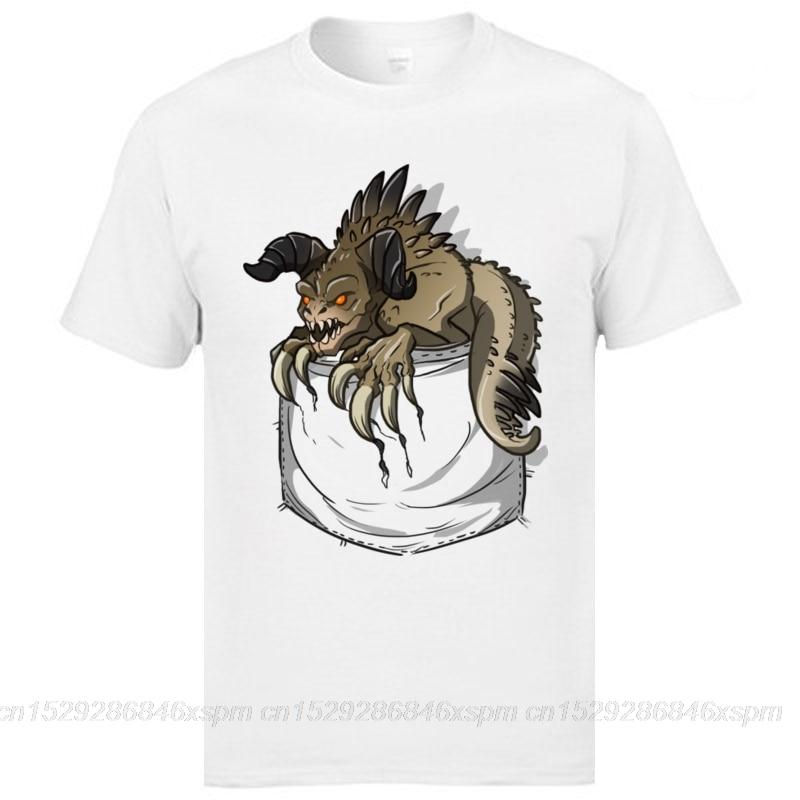 One yona camiseta blanca bolsillo Deathclaw Fallout camisetas 3D impreso juego holgado Faddish 100% algodón camisetas ropa camisa personalizada