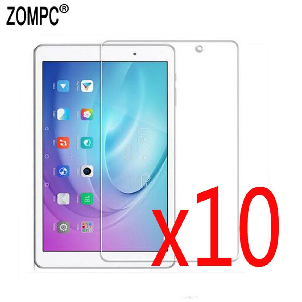 10 unids/lote mate Protector de pantalla suave películas para Huawei Mediapad Honor nota T3 9,6 T5 T2 10 Pro T1-A21W FDR-A01W/A03L AGS-W09/L09