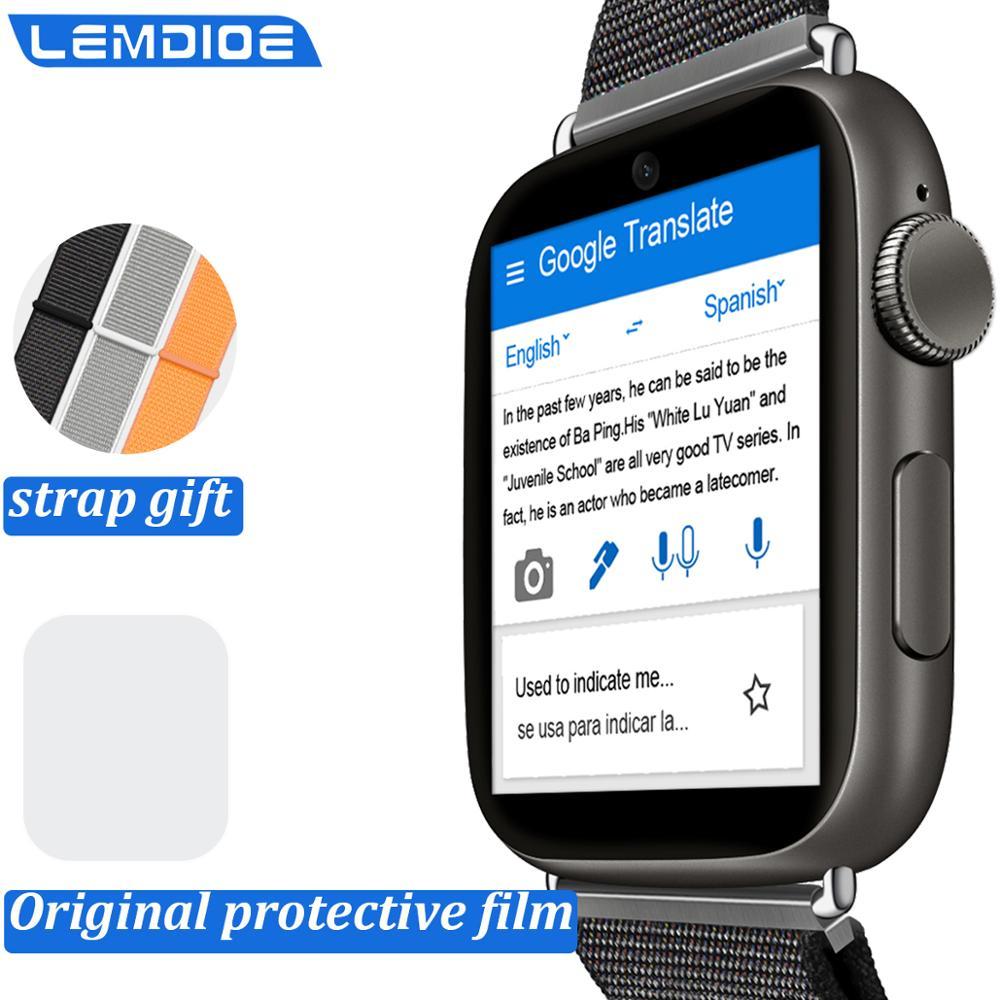 LEM10 4G  HD Camera Smart Watch Android 7.1 1.88 Inch 360*320 Screen 3GB + 32GB GPS WIFI 780mah Big Battery Smartwatch