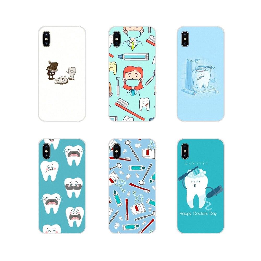 Fundas blandas y transparentes con dibujo de dentista para Xiaomi Mi4, Mi5, Mi5S, Mi6, Mi, A1, A2, A3, 5X, 6X, 8, CC, 9 T Lite, SE Pro