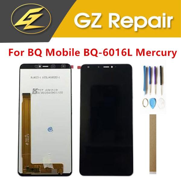 6,0 дюйма для BQ Mobile BQ-6016L Mercury BQ 6016L ЖК-дисплей с сенсорным экраном, стеклянный сенсор, дигитайзер в сборе с инструментами