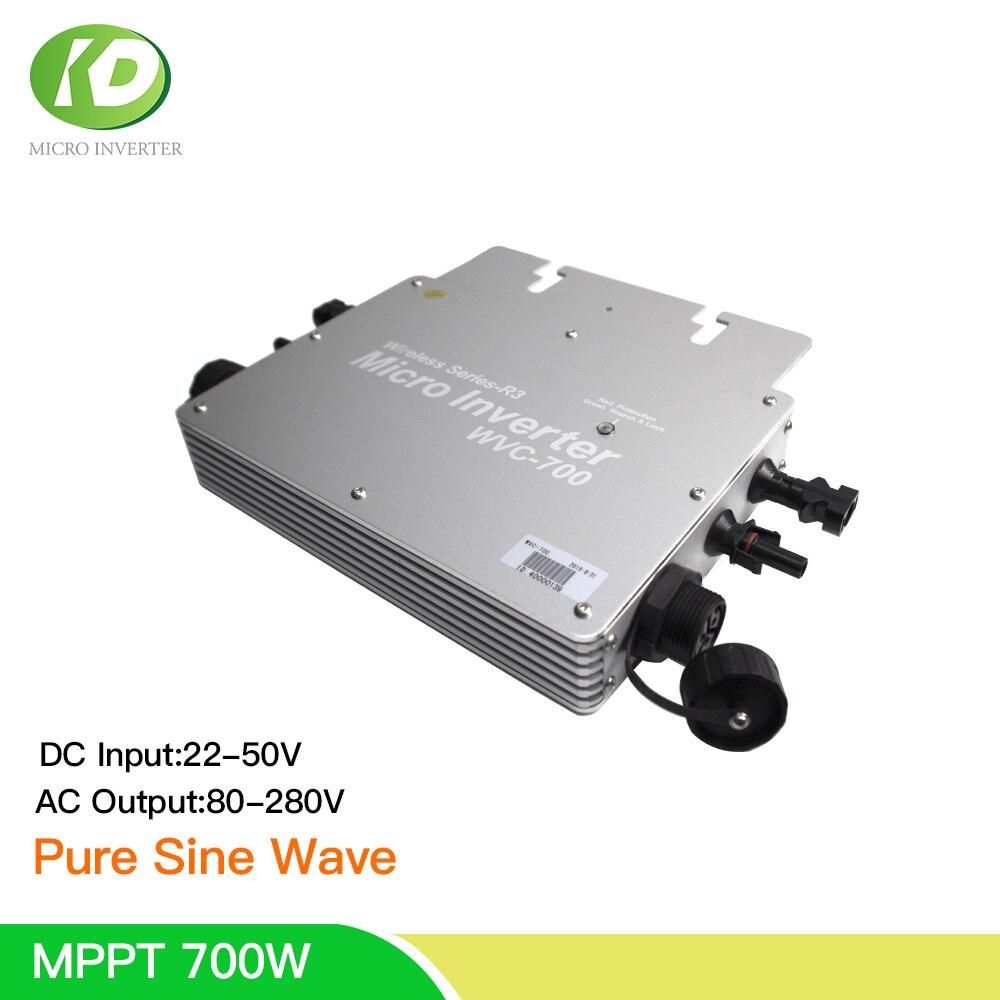 MPPT 700 واط مايكرو الشمسية العاكس تيار مستمر 30 فولت 36 فولت إلى 110 فولت 230 فولت التيار المتناوب على شبكة التعادل Inversor موجة جيبية نقية ل 60 72 خلايا لو...