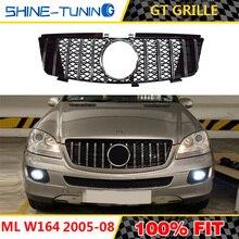 Voor grill Geschikt voor mercedes ML Klasse W164 x164 GT grille 2005-11 ML300 ML320 ML350 ML400 ML500 ML430 zonder embleem