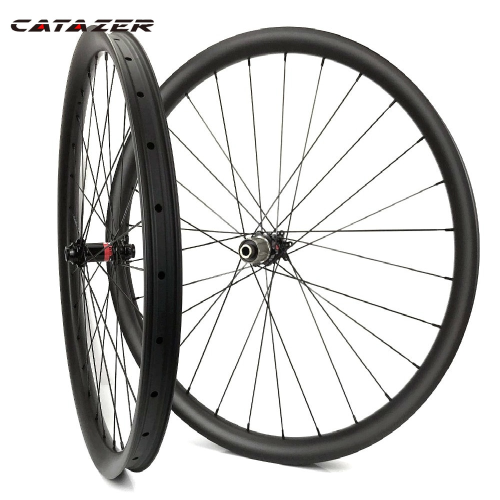 29er 40mm de ancho 30mm de profundidad MTB AM/DH ruedas de carbono sin gancho 29 pulgadas bicicleta de montaña Clincher Tubeless listo juego de ruedas de carbono