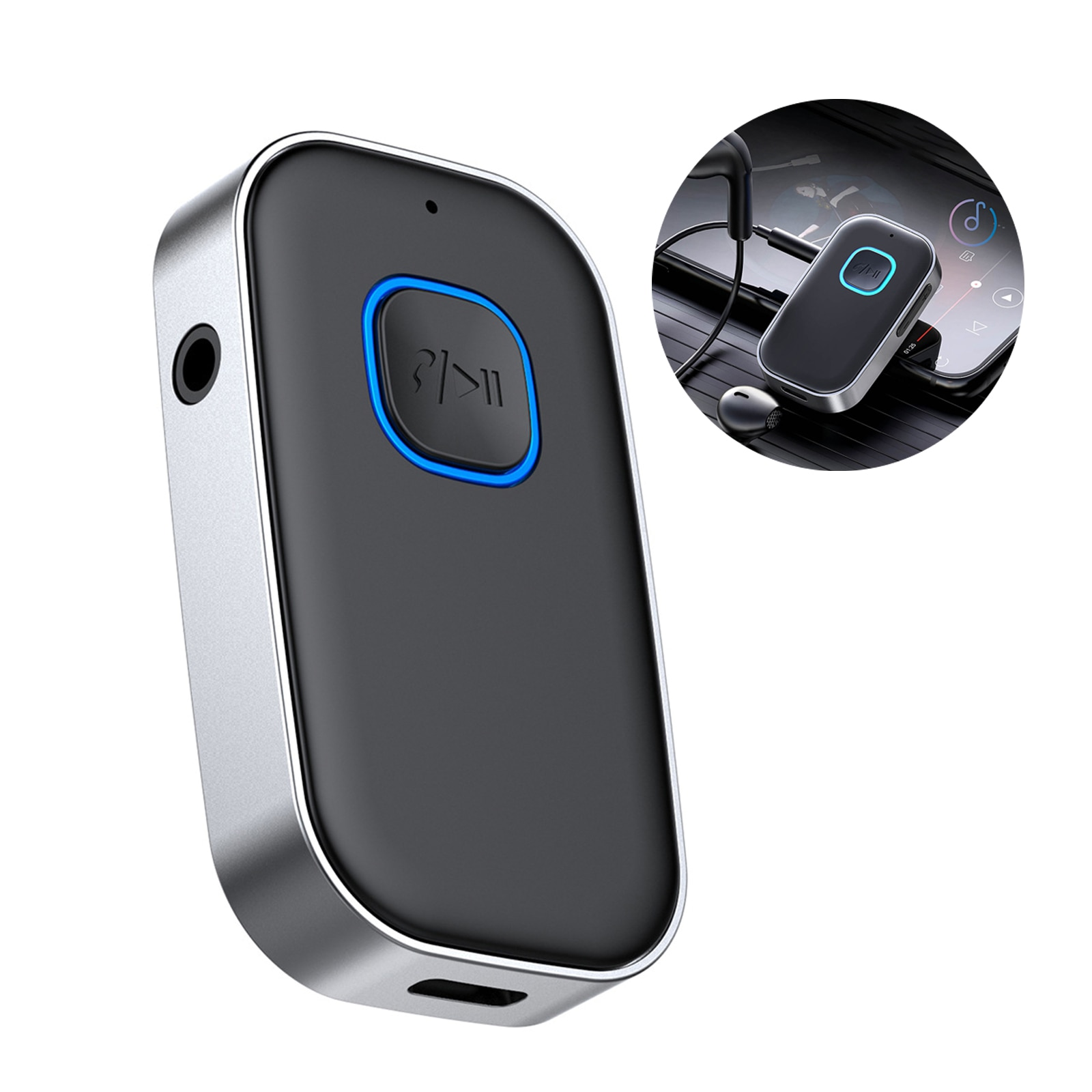 Multifunctional Bluetooth Adapter Wireless Bluetooth Receiver Transmitter Bluetooth Audio Adapter for Car Home Stereo System belcat btc 5 wireless bluetooth receiver digital transmission system for phone and computer with 5m connector line
